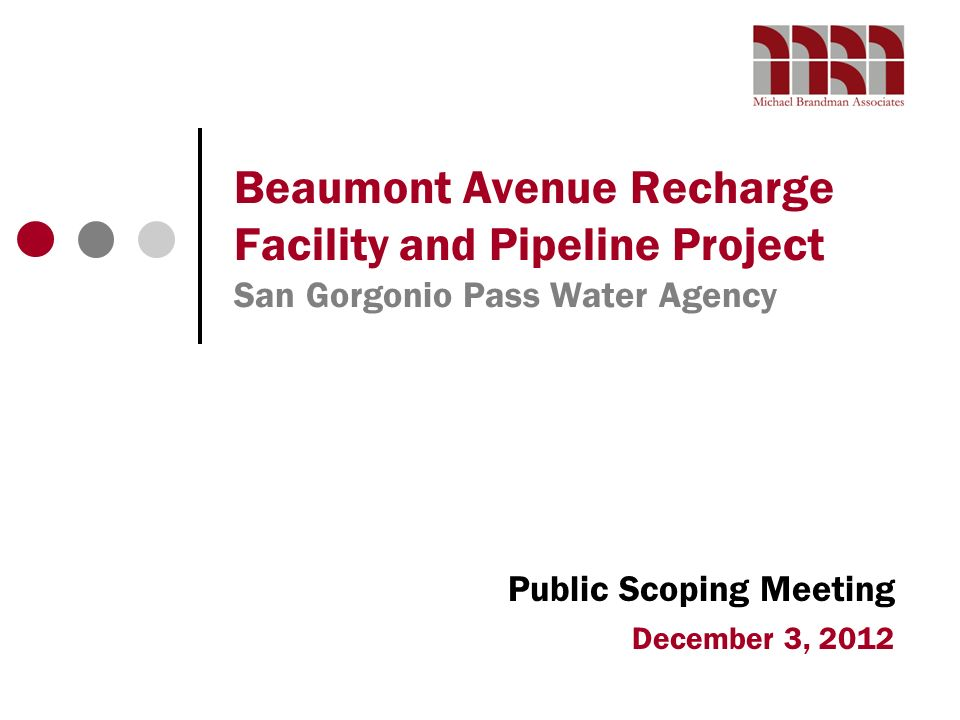 Public Scoping Meeting December 3, 2012