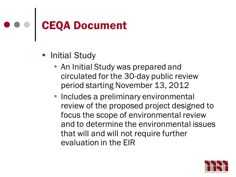 CEQA Document Initial Study