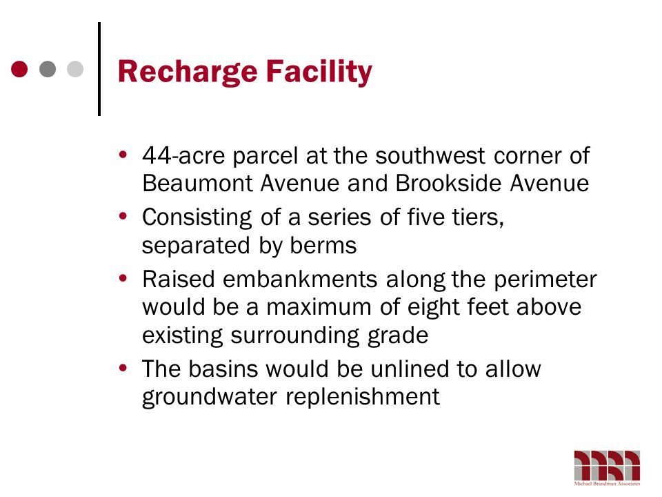 Recharge Facility 44-acre parcel at the southwest corner of Beaumont Avenue and Brookside Avenue.