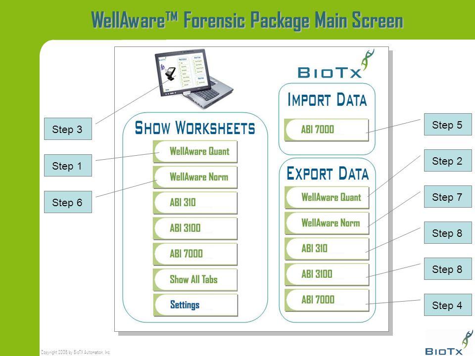 WellAware™ Forensic Package Main Screen