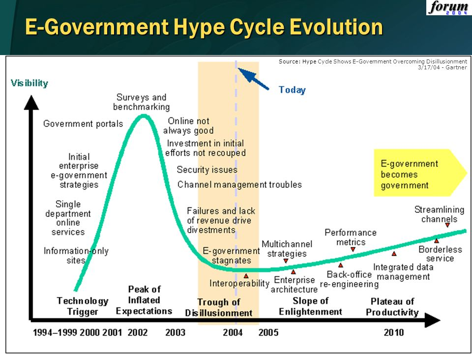 E-Government Hype Cycle Evolution