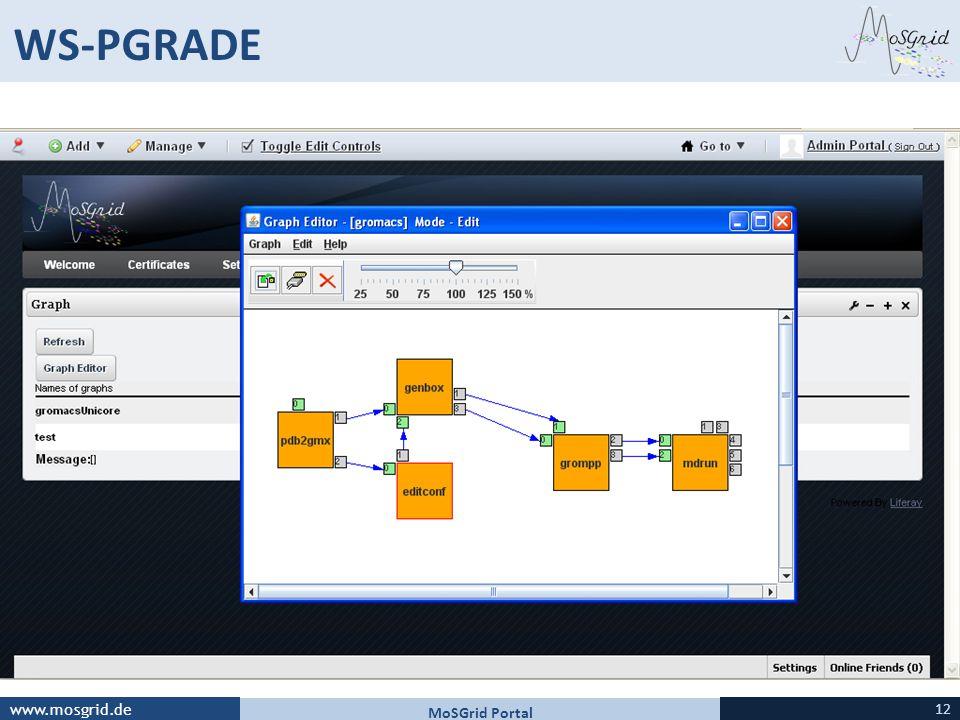 WS-PGRADE MoSGrid Portal