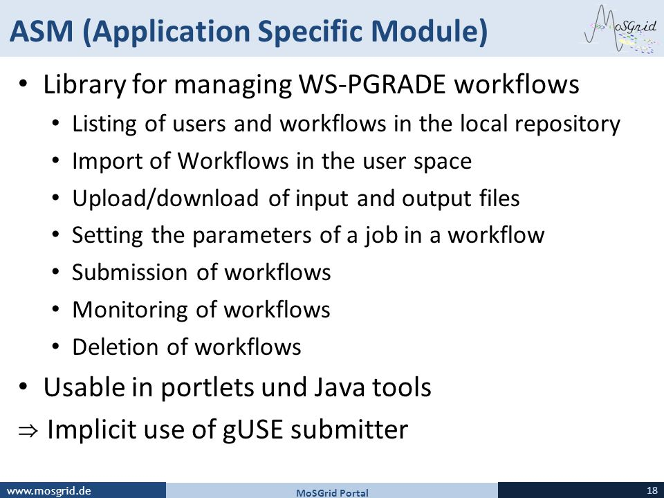 ASM (Application Specific Module)