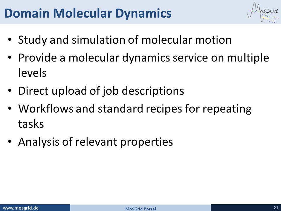 Domain Molecular Dynamics