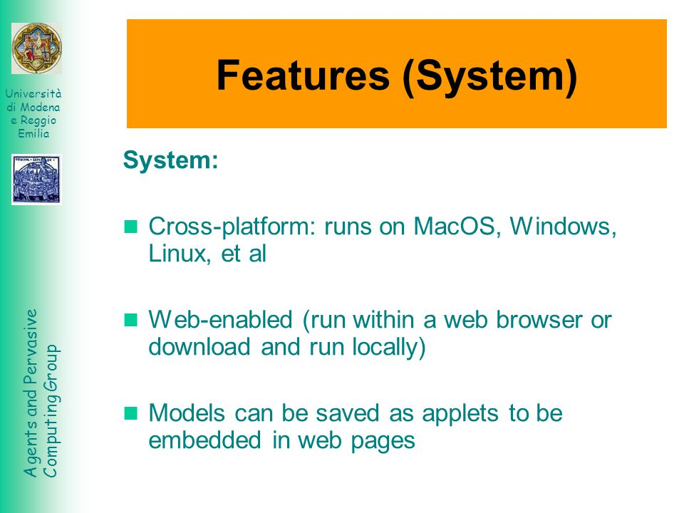 Features (System) System: