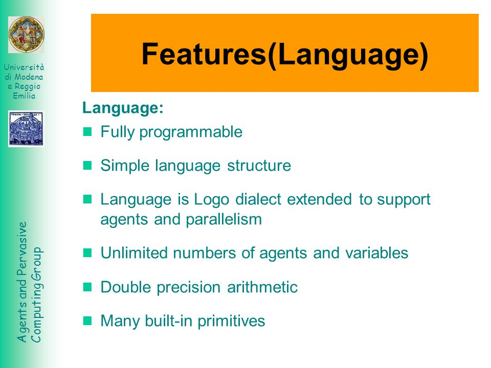 Features(Language) Language: Fully programmable