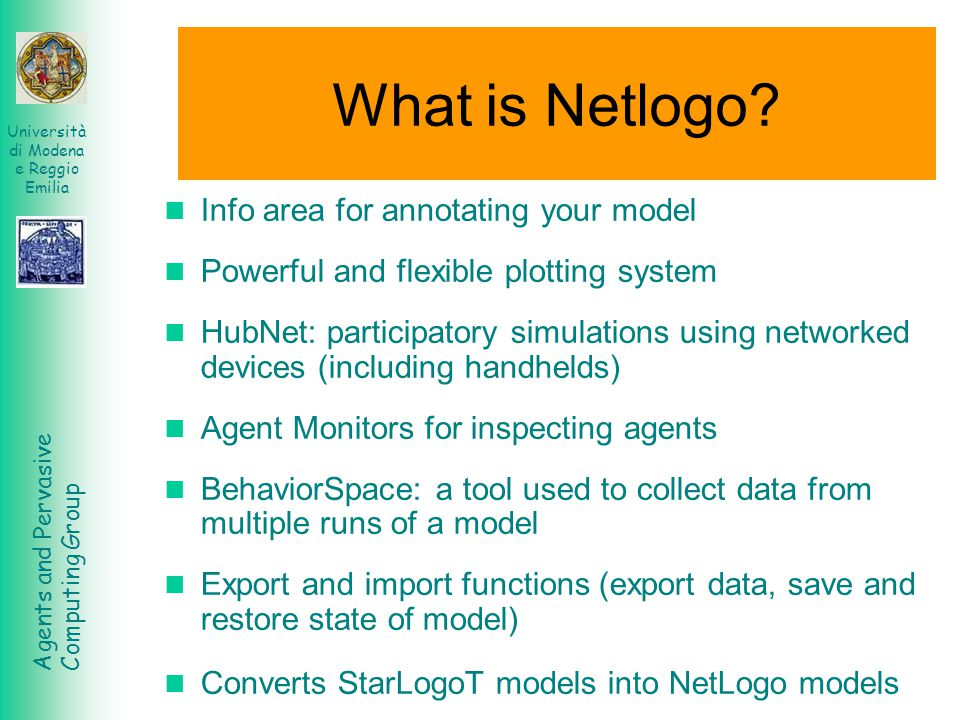 What is Netlogo Info area for annotating your model