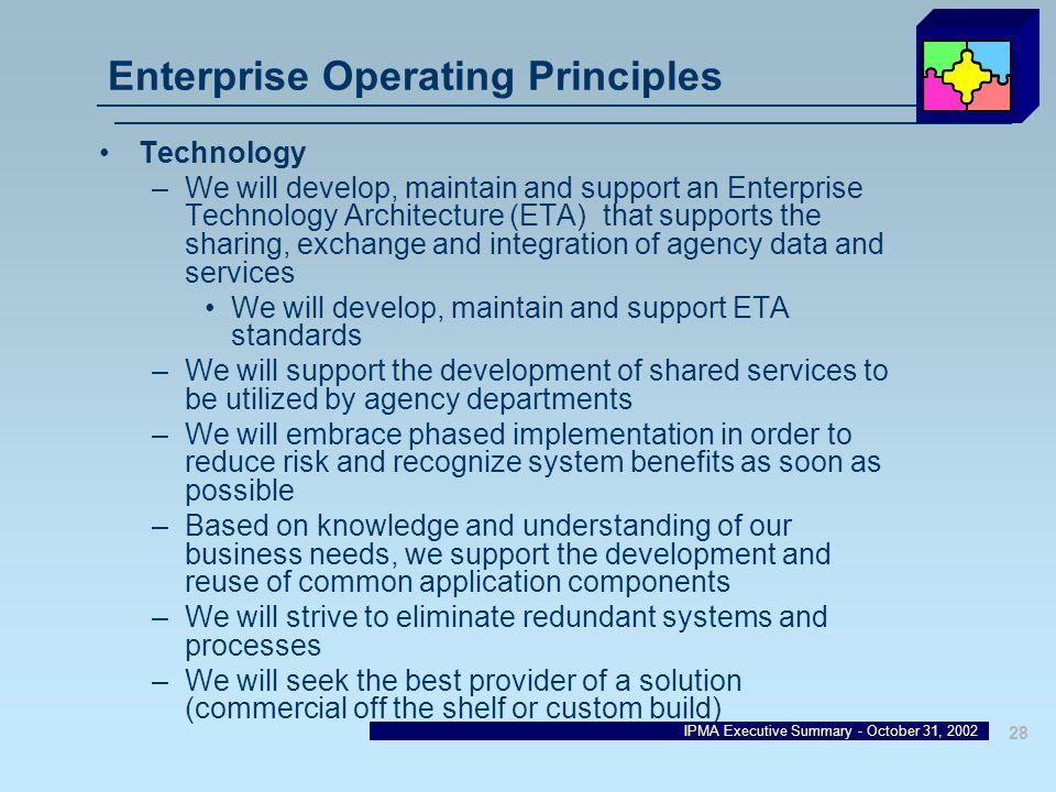 Enterprise Operating Principles