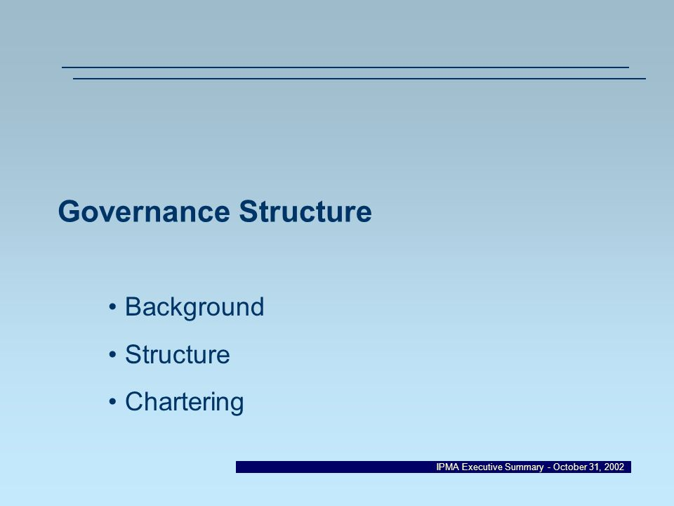 Background Structure Chartering
