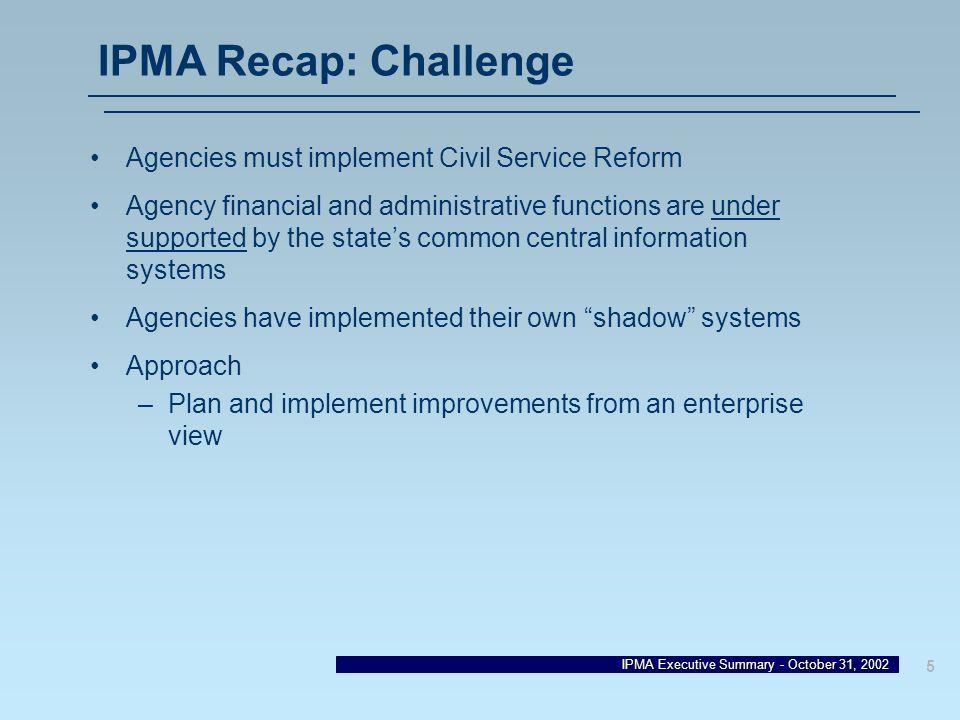 IPMA Recap: Challenge Agencies must implement Civil Service Reform