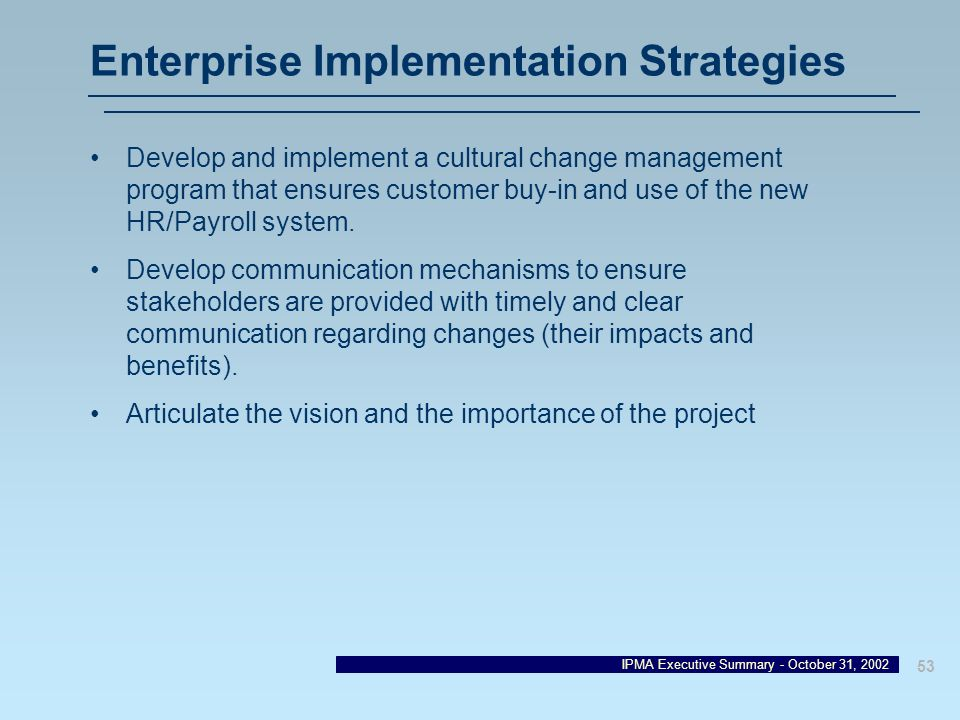 Enterprise Implementation Strategies
