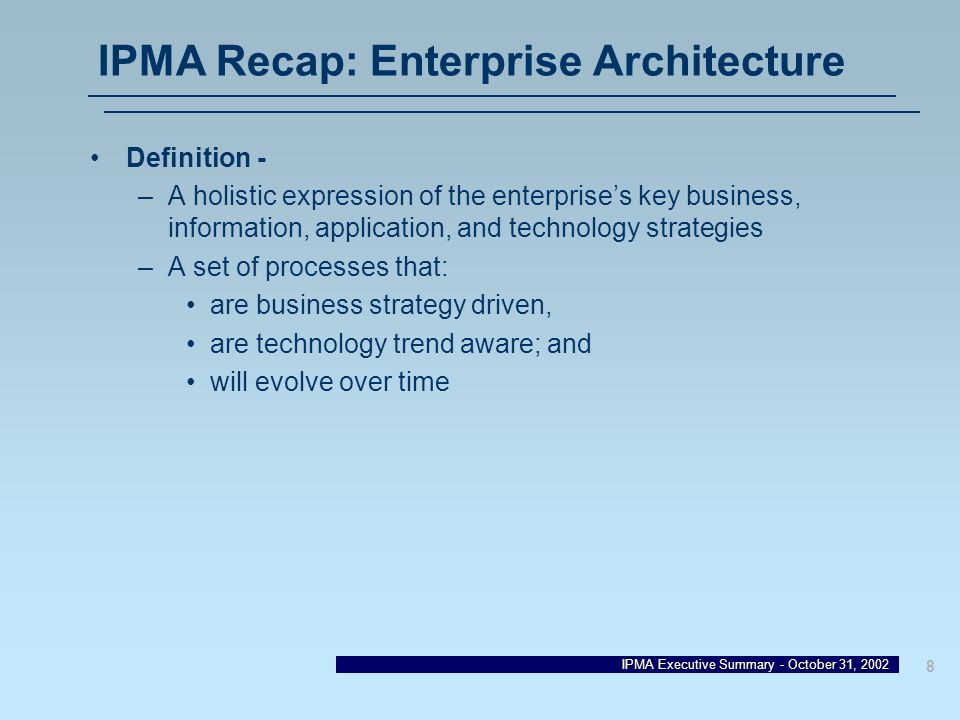 The enterprise architecture final notes and discussions for Enterprise architecture definition