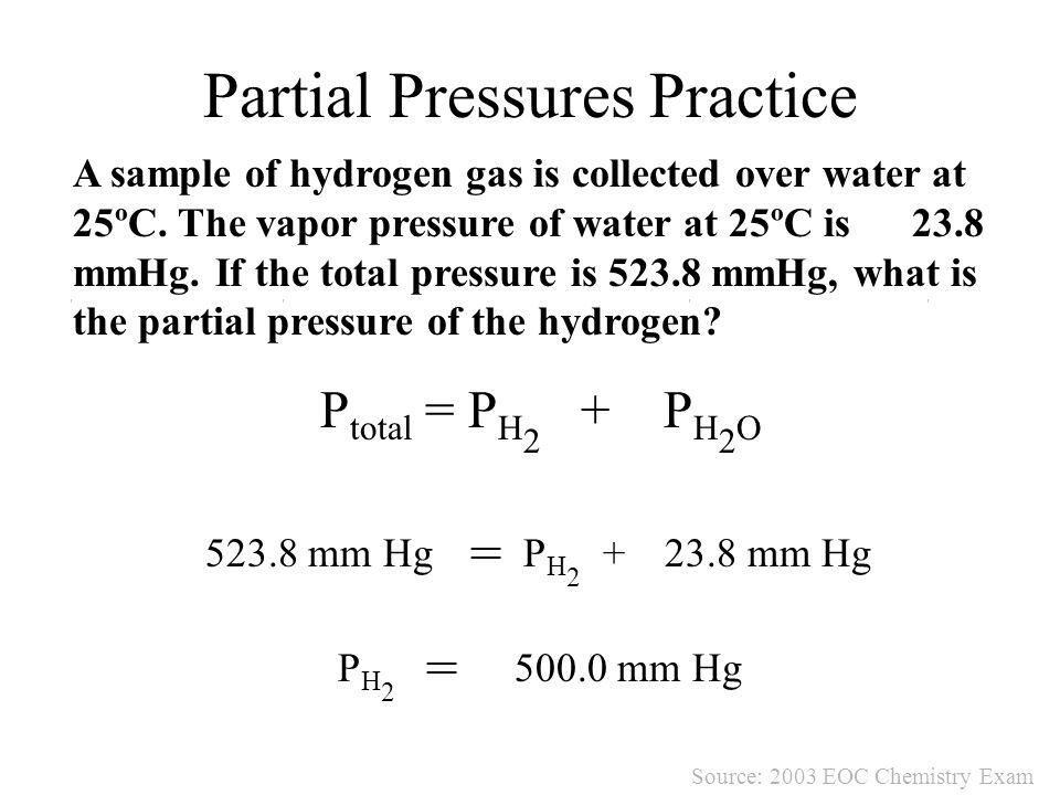 Partial Pressures Practice