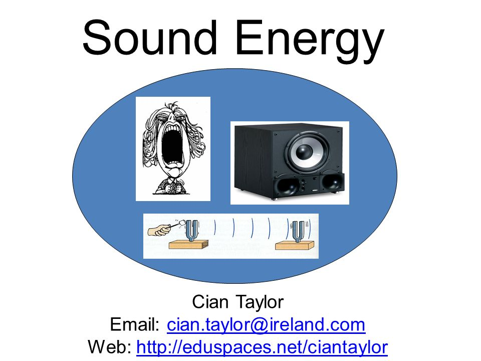 Sound Energy Cian Taylor Email: cian.taylor@ireland.com