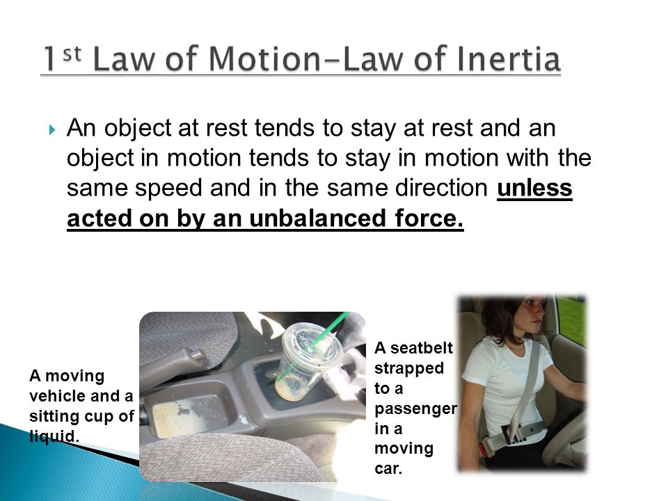 1st Law of Motion-Law of Inertia