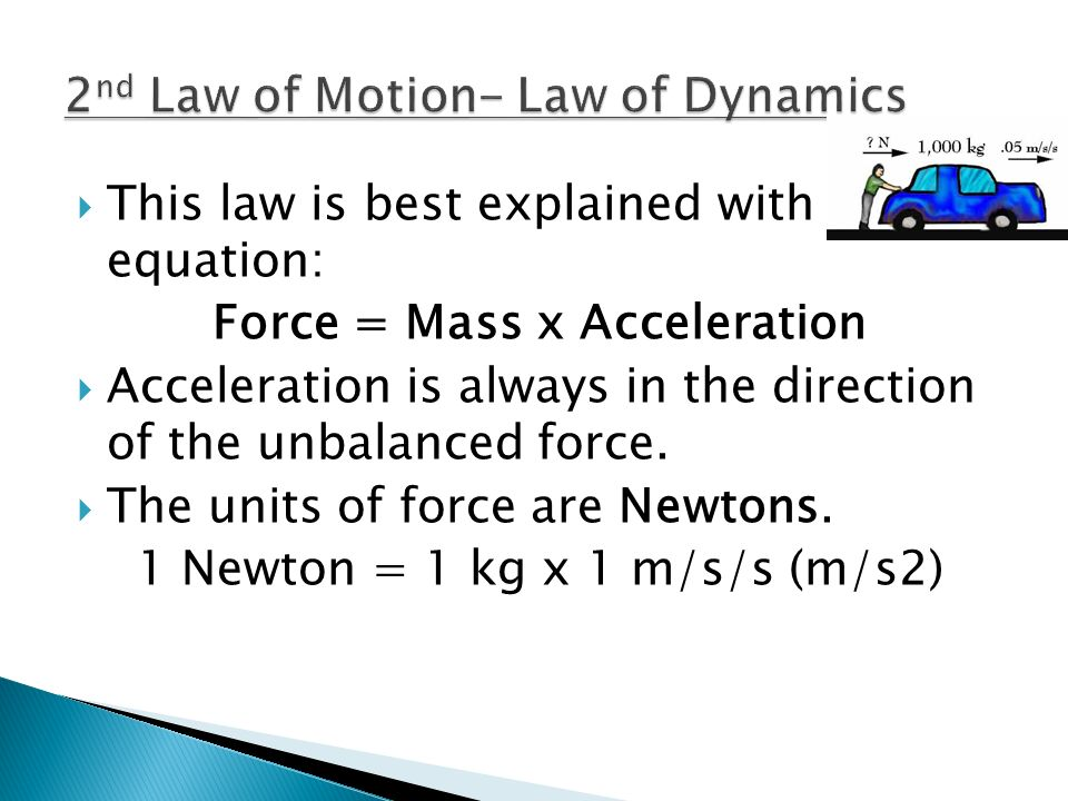 2nd Law of Motion- Law of Dynamics