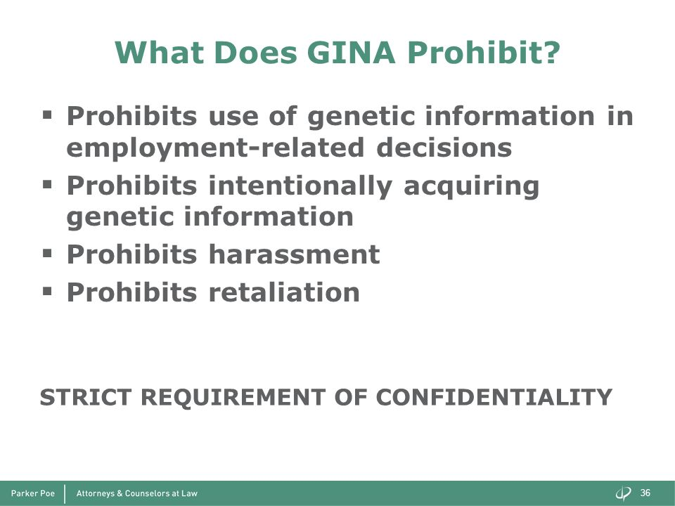What Does GINA Prohibit