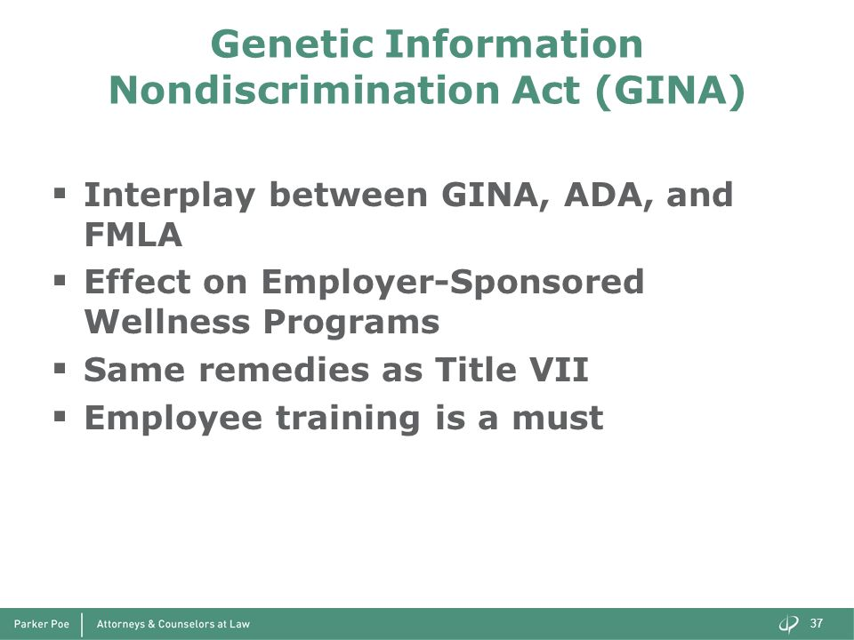 Genetic Information Nondiscrimination Act (GINA)
