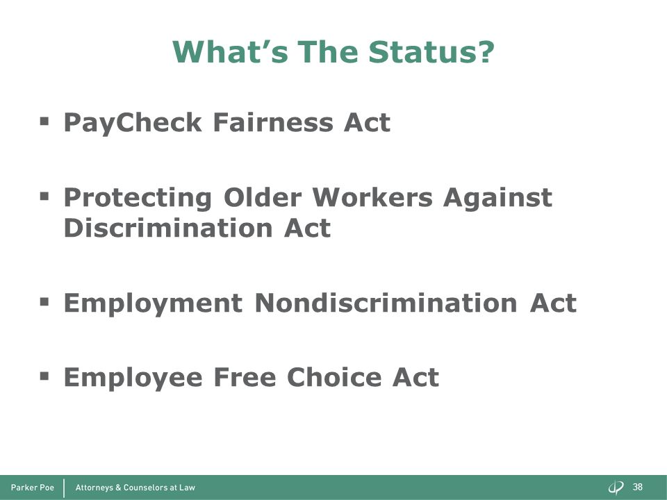 What's The Status PayCheck Fairness Act