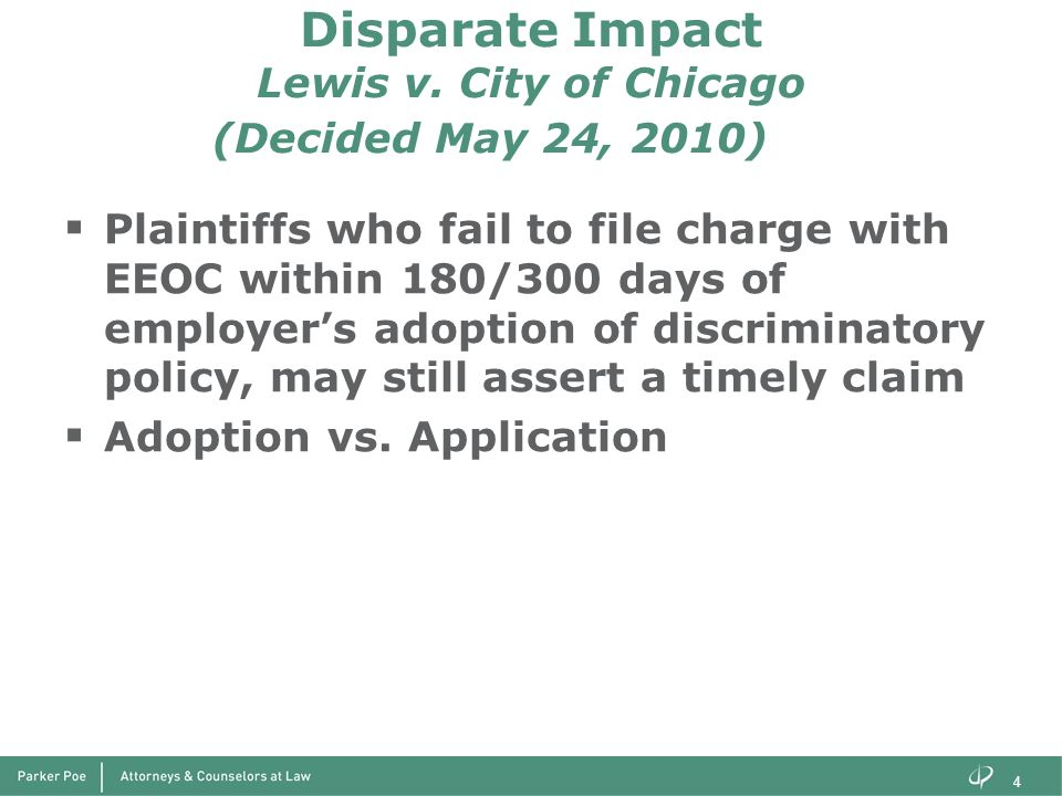Disparate Impact Lewis v. City of Chicago (Decided May 24, 2010)