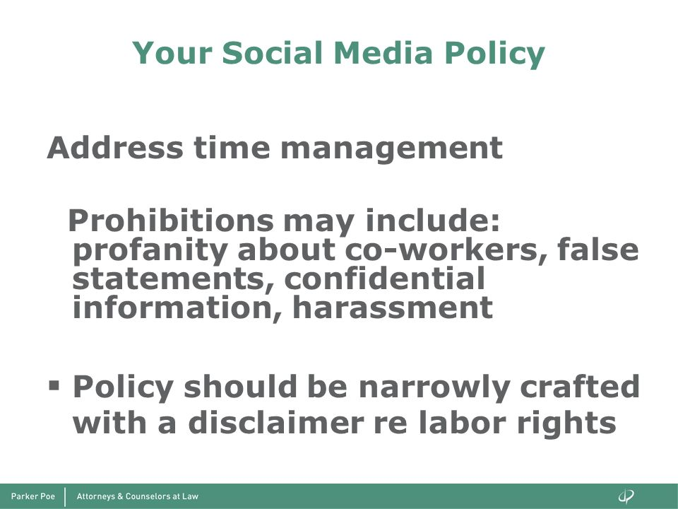 Your Social Media Policy
