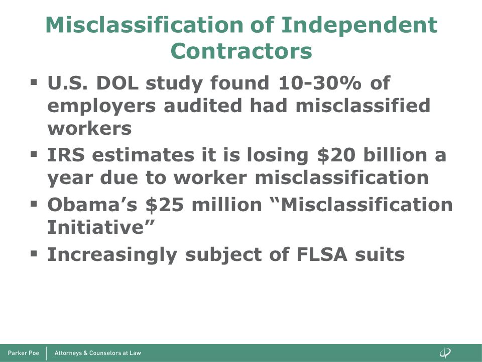 Misclassification of Independent Contractors