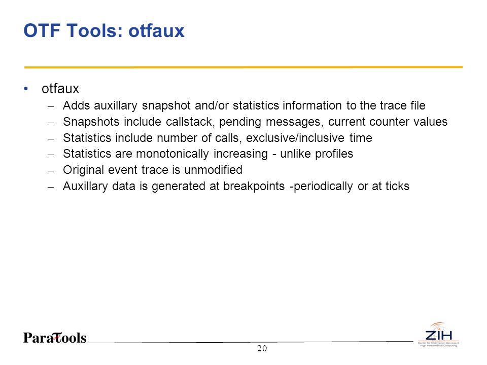 OTF Tools: otfaux otfaux