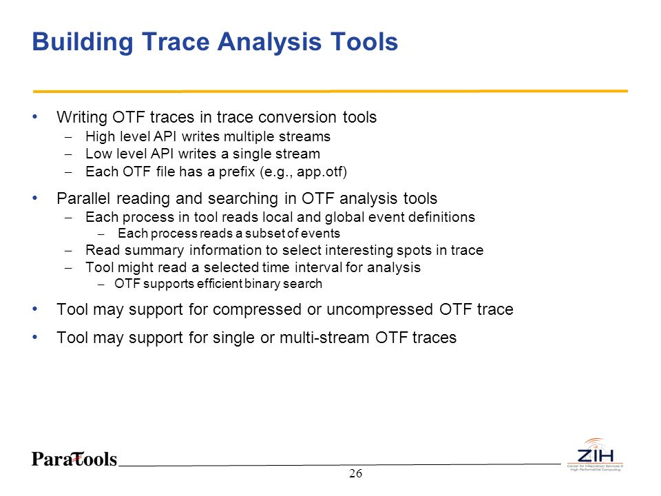 Building Trace Analysis Tools