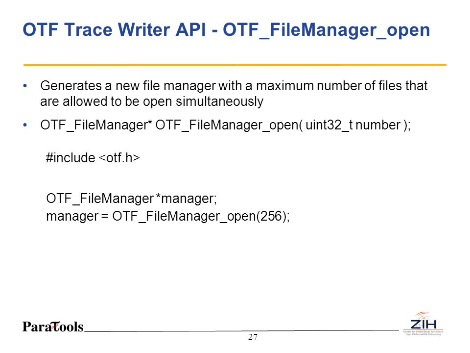 OTF Trace Writer API - OTF_FileManager_open