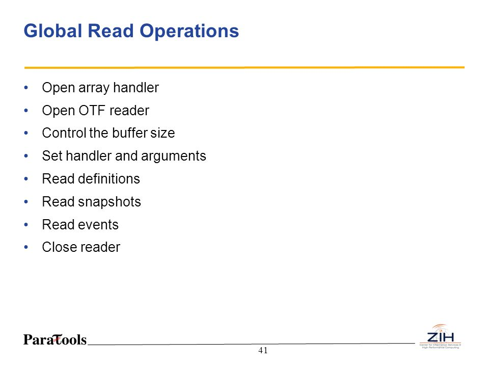 Global Read Operations