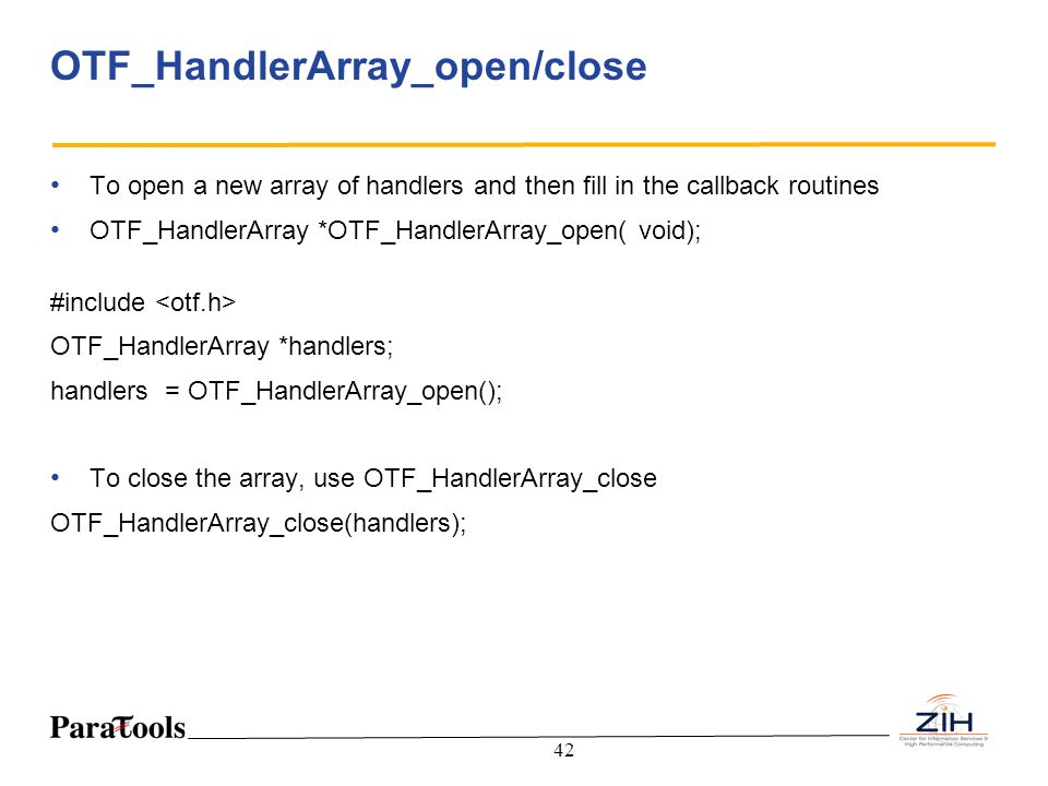 OTF_HandlerArray_open/close