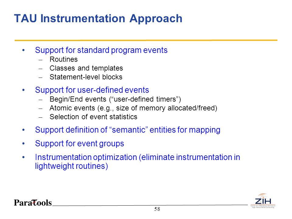 TAU Instrumentation Approach