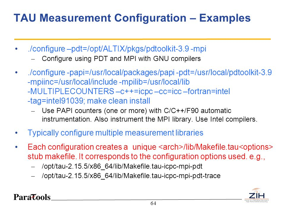TAU Measurement Configuration – Examples