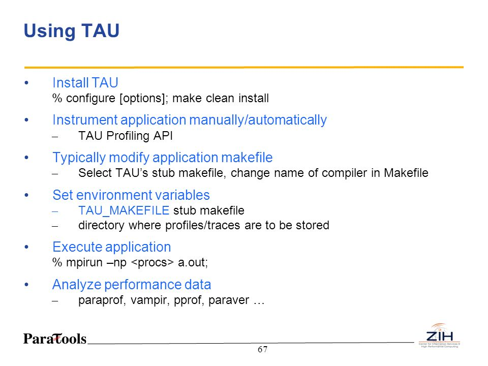 Using TAU Install TAU Instrument application manually/automatically