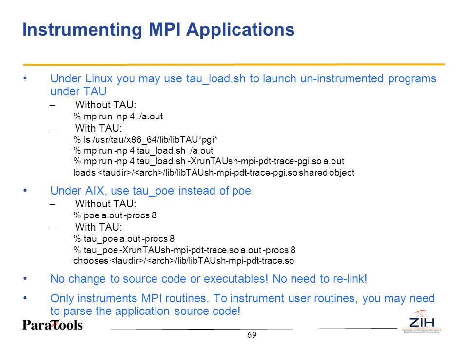 Instrumenting MPI Applications