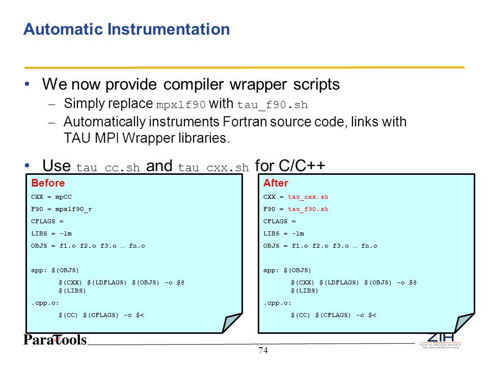 Automatic Instrumentation