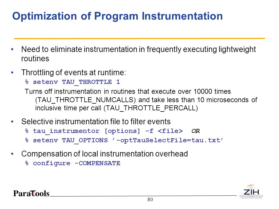 Optimization of Program Instrumentation
