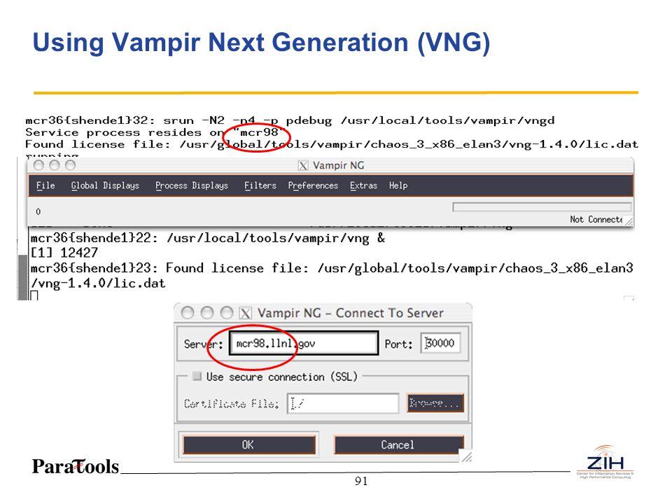 Using Vampir Next Generation (VNG)