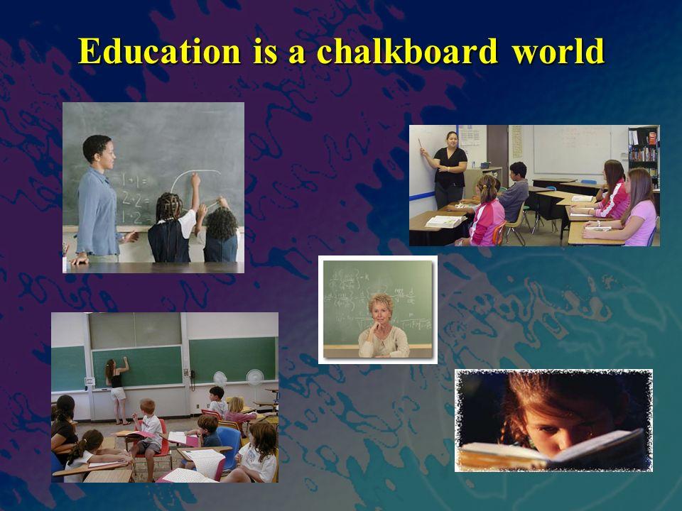 Education is a chalkboard world