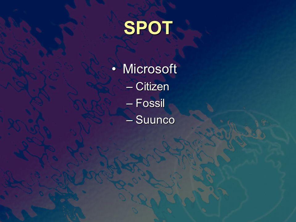 SPOT Microsoft Citizen Fossil Suunco