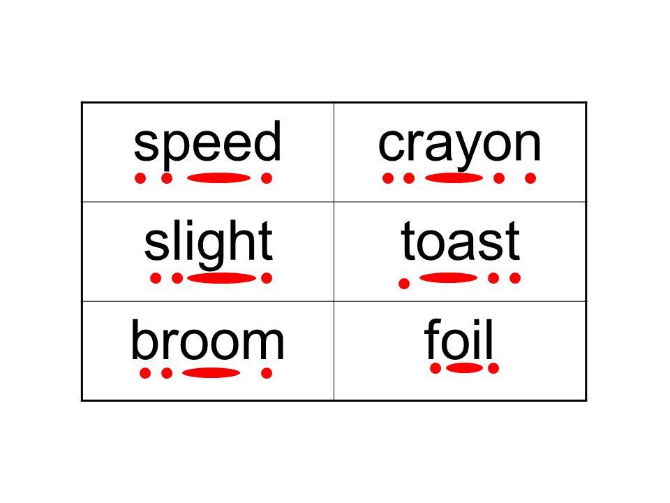 01/05/08 speed crayon slight toast broom foil