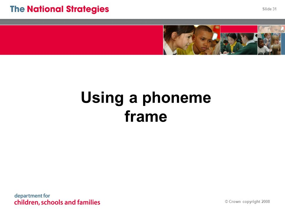 01/05/08 Using a phoneme frame