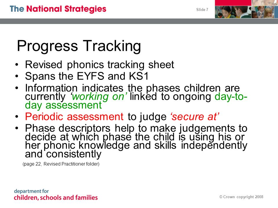 Progress Tracking Revised phonics tracking sheet