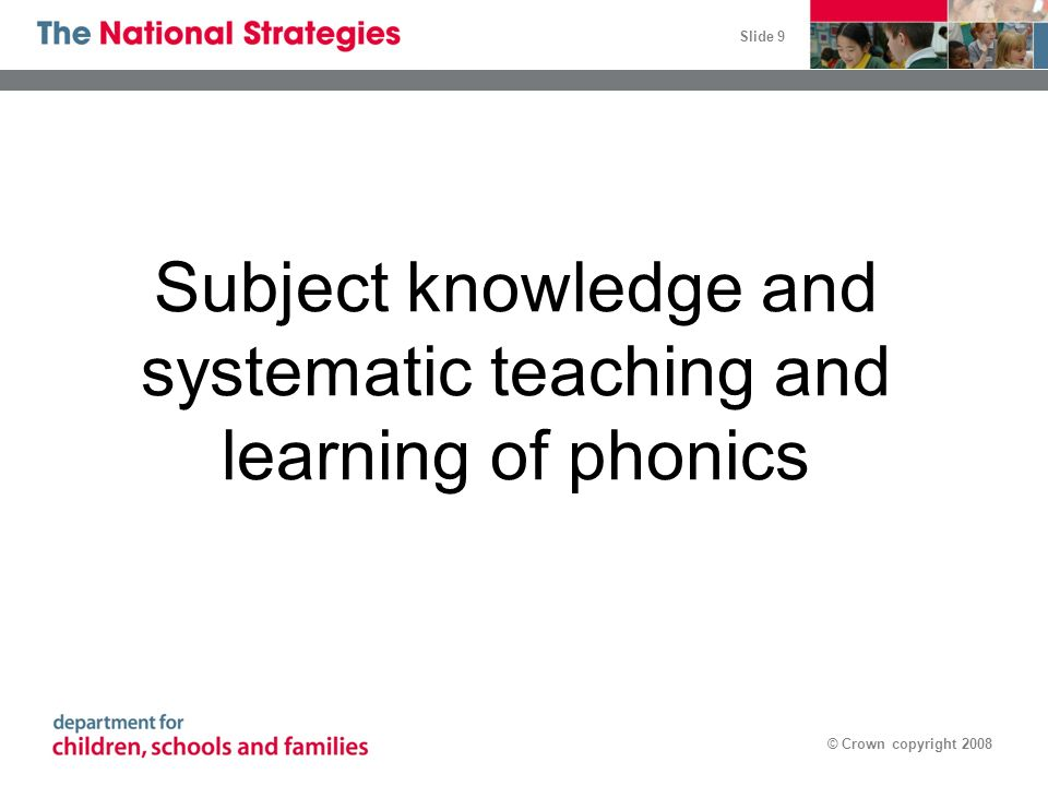 Subject knowledge and systematic teaching and learning of phonics