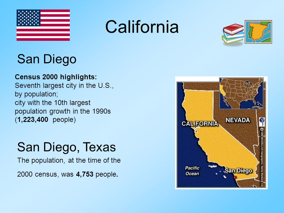 California San Diego San Diego, Texas Census 2000 highlights: