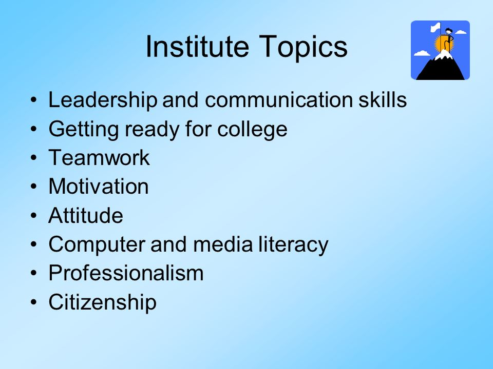 Institute Topics Leadership and communication skills