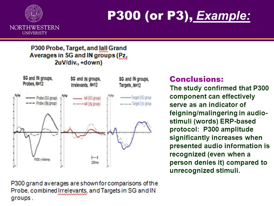 P300 (or P3), Example: Conclusions: