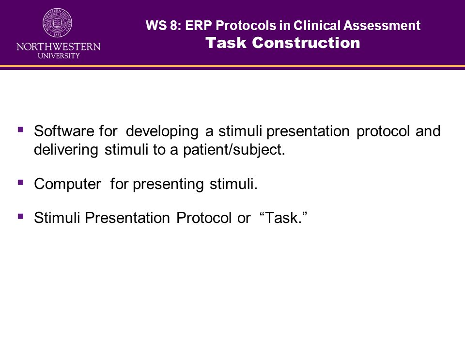 WS 8: ERP Protocols in Clinical Assessment Task Construction