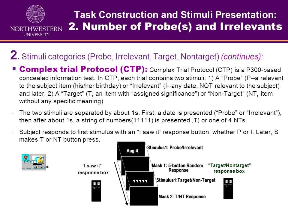 Target/Nontarget response box