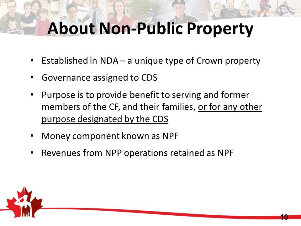 About Non-Public Property